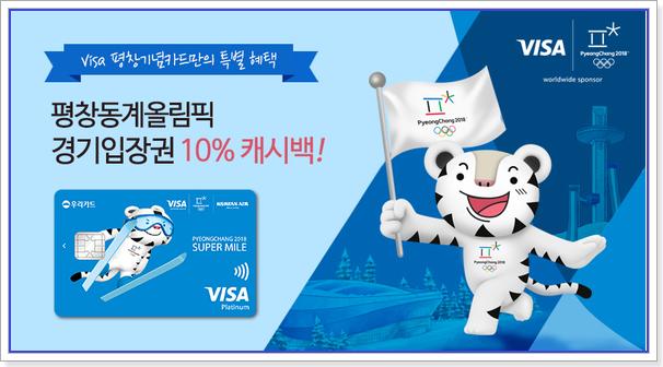 평창동계올림픽 우리카드 할인 이벤트