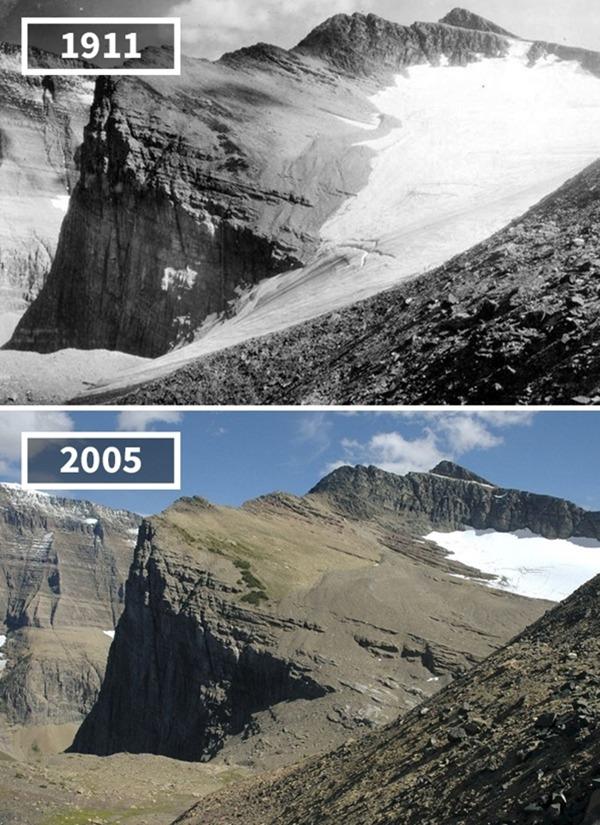 미국, '체니 빙하', 1911~2005