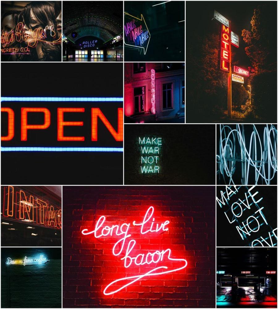 무료 사진팩 네온 불빛 밤거리 이미지 40장 모음 Free 40 Neon Photo Pack