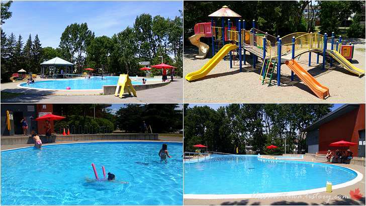 커뮤니티 센터 수영장입니다