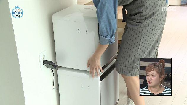 한혜진 공기청정기 삼성 큐브