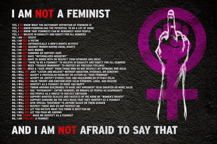 """ I AM NOT A FEMINIST."" : 반페미니스트 선언문"