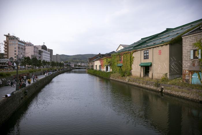 일본 홋카이도 오타루에 있는 운하